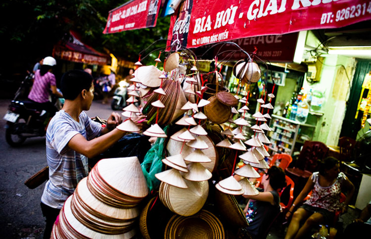 conical hat - souvenir in Vietnam