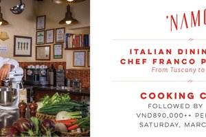 Learn the secrets of Italian cooking with Guest Chef Franco @ NAMO