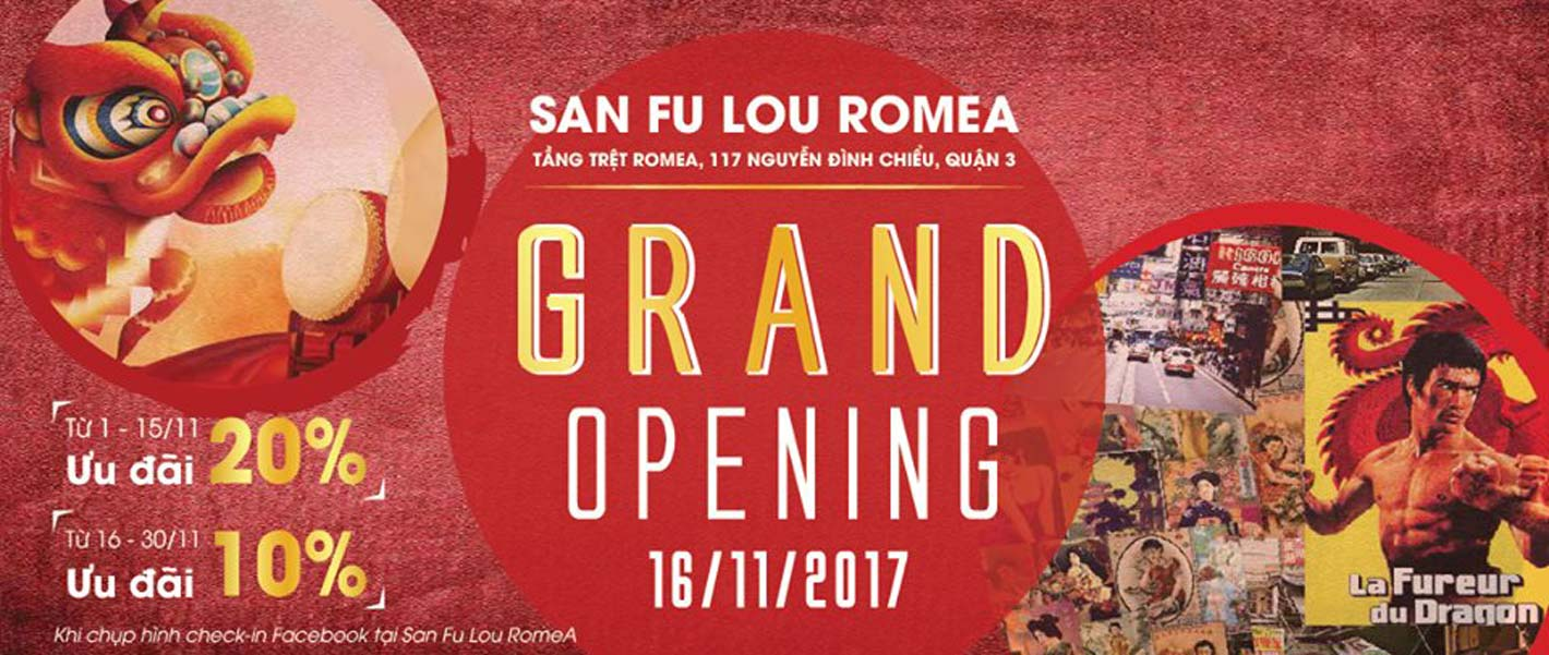 Supper Grand Opening Offers From San Fu Lou RomeA