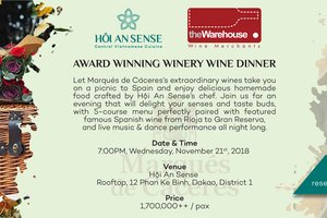 Wine Dinner @ Hoi An Sense