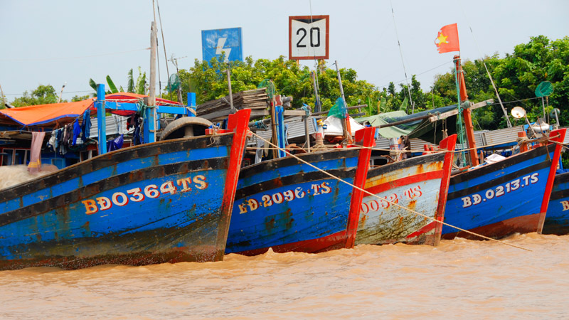 Mekong delta - fishing boats
