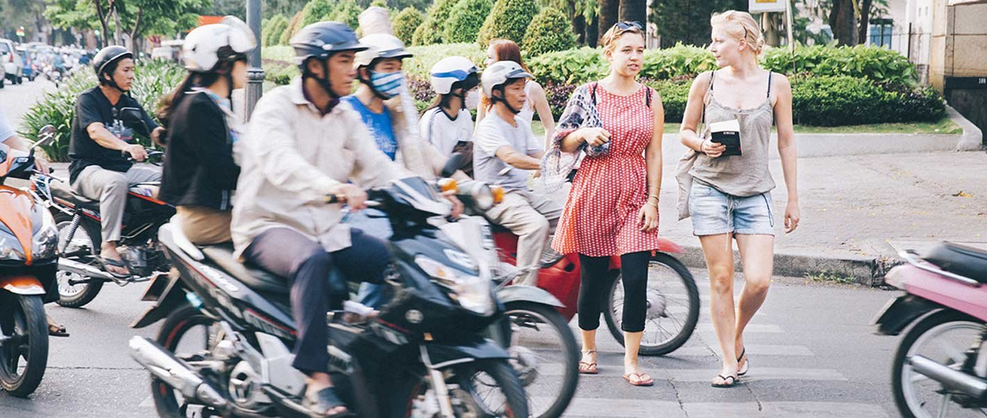 Image result for crossing the street in vietnam