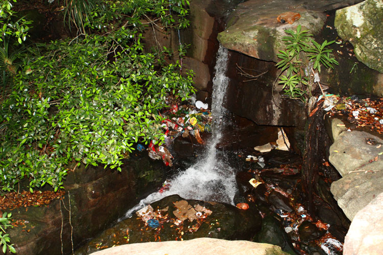 Trashes on Waterfall