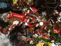 Garbage at Da Ban Stream in Phu Quoc