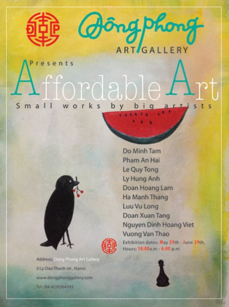 "Exhibition ""Affordable Art"" at Dong Phong Gallery"