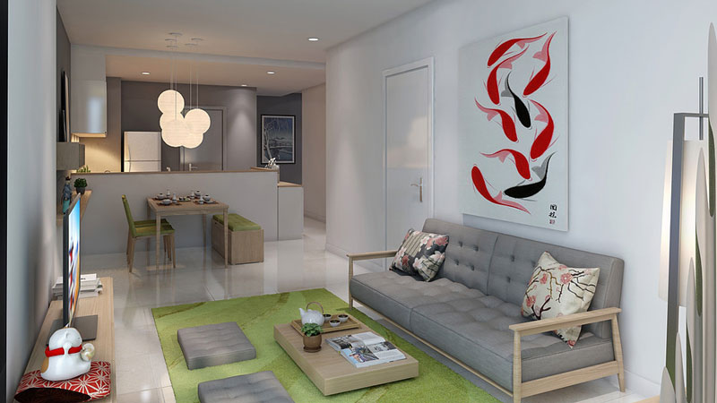 Improving your home an interior design case study for Apartment design case study