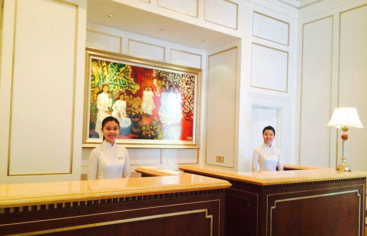 Friendly Receptionist of Park Hyatt