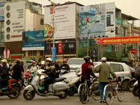 Rush Hour Traffic in Hanoi