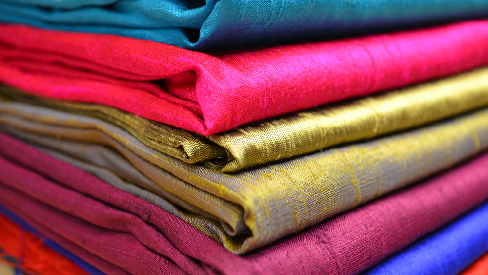 Coloured silk