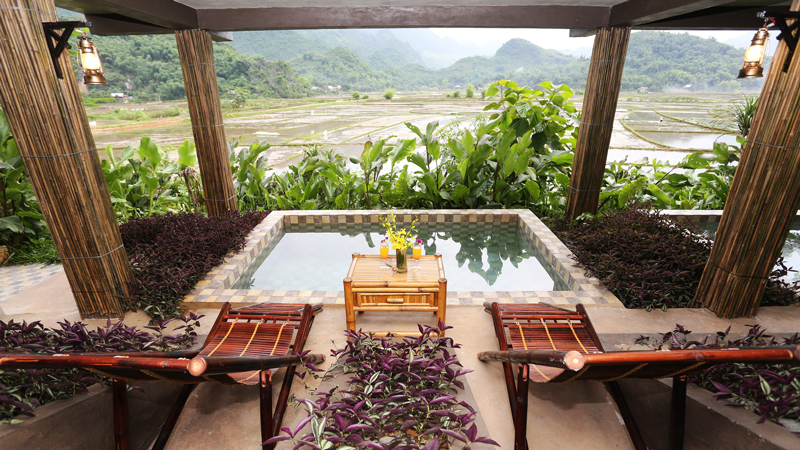 Suite at the Mai Chau Ecolodge in Mai Chaou