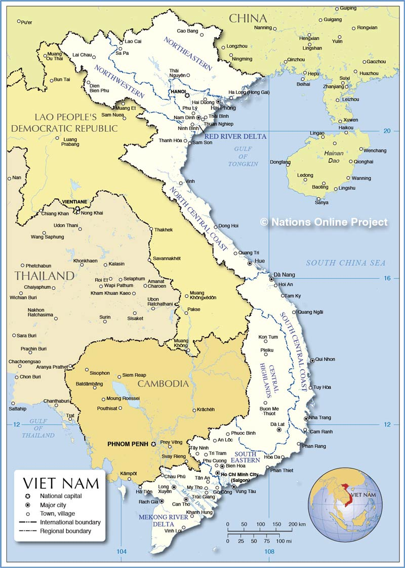 Travelling through Vietnam from North to South