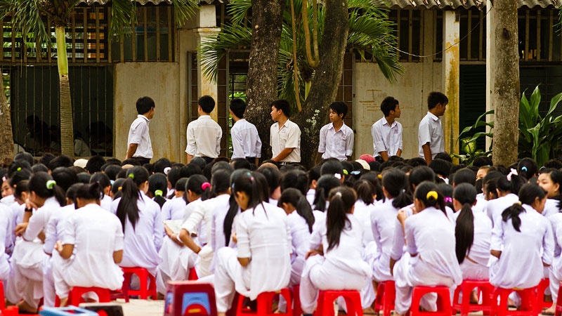 Secondary school in Vietnam